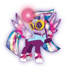 Rainbow Masked Matterhorn has veary strong magic she is Rainbow filli second and her sister's older sister