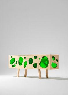 Aquario by Campana Brothers for bd Barcelona, Salone Del Mobile Glass Shelf Brackets, Glass Shelves, Shelf Design, Cabinet Design, Wooden Cabinets, Pin Up Art, One Design, Creative Studio, New Furniture