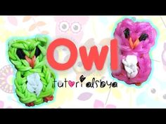 Rainbow Loom OWL Charm. Designed and loomed by TutorialsByA. Click photo for YouTube tutorial. 04/08/14