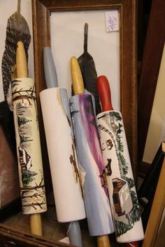 hand-painted rolling pins