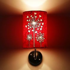 Craftter Flower Of Hearts Red And White Wall Lamp