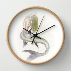 Mermaid Passion in Color Wall Clock by MaryS - $30.00