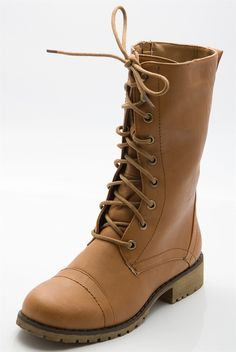 Bet Your Boots Combat Boots - Tan