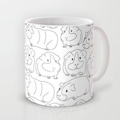 Sketchy Guinea Pigs Mug by Upcyclepatch - $15.00 - Free shipping through Nov 17th when this link used - http://society6.com/upcyclepatch?promo=7eda52