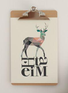 Digitaldruck - Poster HEIMAT DIN A4 - ein Designerstück von Heimwerk_Design bei…