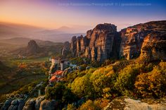 Twilight in Meteora - Twilight in Meteora Greece. Photography by George Papapostolou