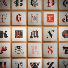 Jessica Hische's Awesome Arrangement of Interesting Fonts.