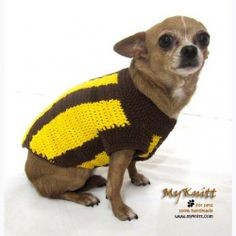 The hawks football team Australia Football League Dog Clothing Merchandising Supporter Hawthorn AFL by myknitt. www.myknitt.com #handmade #crochet #afl #football #AFL #australiafootballleague #soccer #dog #pet #myknitt