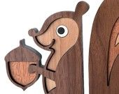 Squirrel Wooden Animal BookendHeirloom: Kids Baby Nursery Children