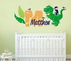 Dinosaur Wall Decals Name Wall Decal Nursery Name Decal Custom - Custom vinyl wall decals dinosaur