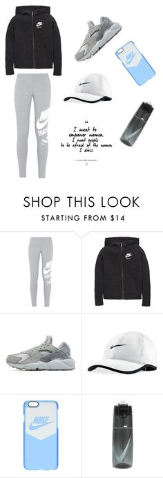 """NIKE Run Down"" by thepinkkunicorn ❤ liked on Polyvore featuring NIKE"