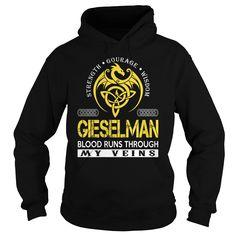 GIESELMAN Blood Runs Through My Veins (Dragon) - Last Name, Surname T-Shirt