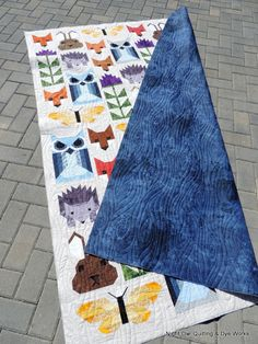 This is Reneta's version of Elizabeth Hartman's Fancy Forest quilt. This quilt is a bit of a labour of love. It has A LOT of pieces! Baby Quilt Patterns, Quilting Patterns, Quilting Ideas, Elizabeth Hartman Quilts, Fox Quilt, Baby Quilts, Children's Quilts, Animal Quilts, Forest Friends