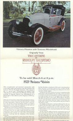 Valentino's 1923 Avions Voisin car