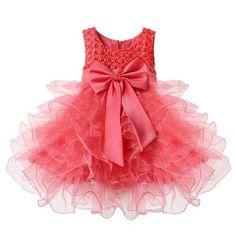 Flower Layered Princess Party Kids Dress