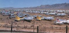 War birds parked at Kingman, Arizona, soon after WWII 909 was one of the lucky ones and is still flying today. See the video below. Thousands of Bombers Parked at Kingman, Arizona, Soon A… Ww2 Aircraft, Military Aircraft, Ww2 Planes, Vintage Airplanes, Nose Art, Model Airplanes, Wwii, Fighter Jets, Cool Photos
