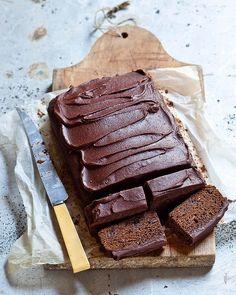 Karen Martini's Sticky chocolate gingerbread. Recipe