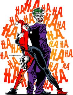 Joker and Harley Quinn by cordova67.deviantart.com