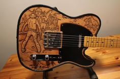 Chancey 77 Custom Leather_ Leather covered Telecaster