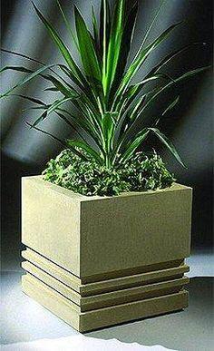 Modern stone planter.