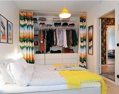 Styling Idea # 290 Curtains as Cupboard Doors