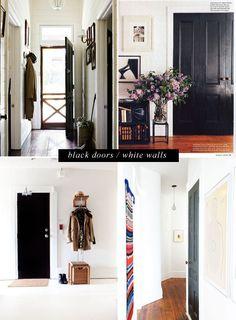 White walls black doors