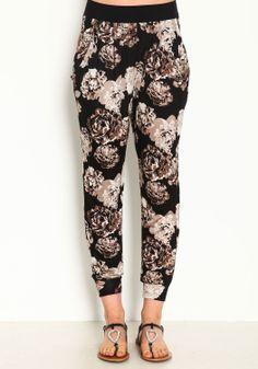 Floral Print Jogger Pants @ Love Culture