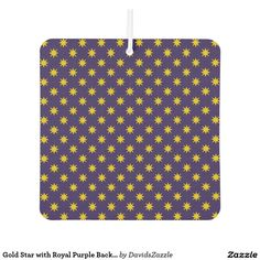 Gold Star with Royal Purple Background Air Freshener Available on many products! Hit the 'available on' tab near the product description to see them all! Thanks for looking!  @zazzle #art #star #pattern #shop #auto #automotive #car #mats #front #rear #air #freshener #accessory #accessories #enthusiast #fashion #style #women #men #shopping #buy #sale #gift #idea #lifestyle #fun #sweet #cool #neat #modern #chic #color