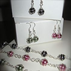 Tutorial Wire Wrapped Bead Bracelet & Earrings love it! must try! #ecrafty