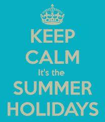 Summer holidays sign