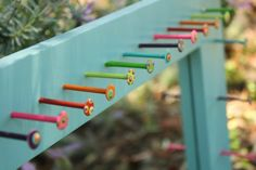 Just use paints, nails, and any size of mirror/frame you would like, and this is easily a DIY project. Inexpensive and fun way to organize necklaces and bracelets.