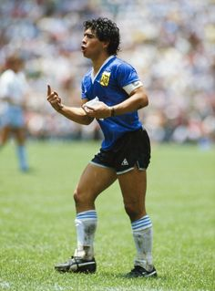 Diego Maradona of Argentina reacts whilst carrying a water bag during the FIFA 1986 World Cup match between Argentina and England at the Azteca Stadium in Mexico City, Mexico on June 22 Get premium, high resolution news photos at Getty Images Puma Football Boots, Soccer Boots, Fifa, Mexico 86, Mexico City, Diego Armando, Soccer Pro, Legends Football, World Cup Match