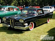 At first glance this looks like just a basic resto-mod Edsel Ranchero.until you realize Ford never made an Edsel Ranchero! Edsel Ford, Ford Fairlane, Ford Trucks, Pickup Trucks, Classic Trucks, Classic Cars, Kansas, 1958 Chevy Impala, Hot Rod Pickup