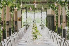 Aria + Alex - The Style Co., Stones of the Yarra Valley Love the way the flowers get more full in the corners of the ceiling
