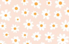 Invite a cool retro feel to your space that's wonderfully cute and playful, with this cute daisy wallpaper. Buy now with fast worldwide delivery! Cute Laptop Wallpaper, Wallpaper Notebook, Macbook Wallpaper, Iphone Background Wallpaper, Computer Wallpaper, Wallpaper Laptop Desktop Wallpapers, Vintage Desktop Wallpapers, Floral Wallpapers, Screen Wallpaper