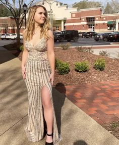 Neutral colors and gunmetal beading! This Sherri Hill dress is a head turner! Shop with us at our store!  4475 Roswell Road, Marietta, Georgia  Shop online at  www.bravurafashion.com  Call us with any questions!  P. 770-977-8916 Miss America Contestants, Prom Boutiques, Marietta Georgia, Sherri Hill Prom Dresses, Neutral Colors, Mother Of The Bride, Fashion Forward, Beading