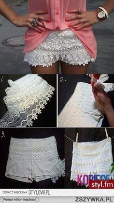 How to make lace shorts!