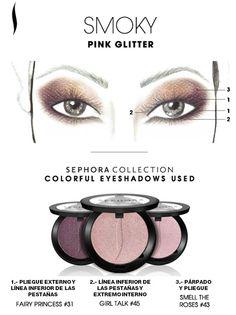 Obtén el look: Smoky Pink Glitter. #SephoraColorfulMx