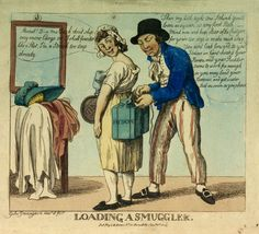 Loading a Smuggler. (caricature) - National Maritime Museum