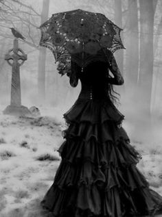 Yes, the cemetery was eerie but she knew it well. It didn't scare her at all. It felt like home. She opened the creaky gate and looked until she found what she was looking for. The white marble tombstone with her name on it. She lay down on the soft dirt and seeped into her final resting place. Tomorrow she would walk again.  -kah-