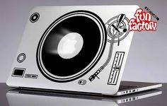 DJ Technics 1210 Turntables Macbook Air Pro Decal Sticker 0125mac by FunDecalFactory on Etsy