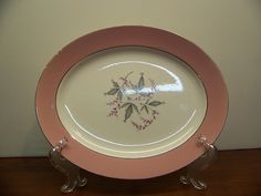 Vintage Shabby Chic Homer Laughlin Platter - 1340