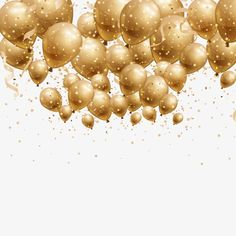 Vector golden balloon Vector and PNG Birthday Msg, Birthday Clipart, Golden Birthday, Birthday Wishes, Happy Birthday Gif Images, Happy Birthday Art, Birthday Background Design, Balloon Background, Rose Gold Wallpaper