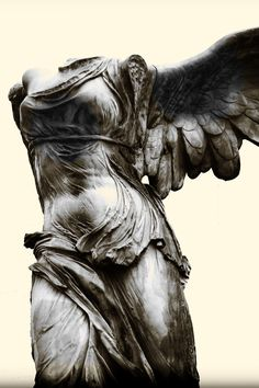 Winged Victory of Samothrace, Greek sculpture, 190 BC, in Louvre, Paris (photo Gonzalo Fernandez Antunes)