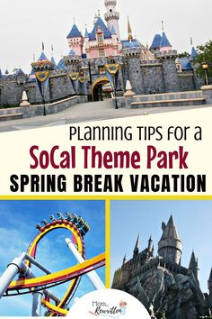 Plan the ultimate Southern California spring break getaway, even on a budget! These family-friendly tips will help you decide which SoCal theme park is the right fit from San Diego (LEGOLAND, SeaWorld) or Anaheim (Disneyland, Universal Studios Hollywood). Get road trip ideas to add on to your theme park vacation as well as where to get the best prices on tickets this spring. #FamilyTravel #TravelwithKids #SoCal #California #Disney #Disneyland #LEGOLAND #SanDiego #UniversalStudios #Hollywood California Spring Break, Disney California, California Travel, Southern California, Spring Break Vacations, Spring Break Destinations, Cruise Vacation, Vacation Destinations, Travel With Kids