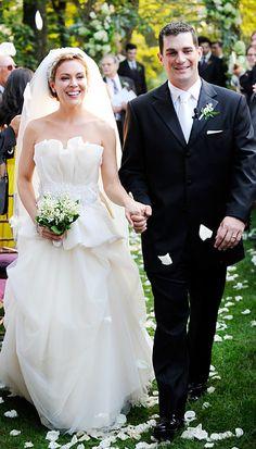 Celebrity Wedding Dresses - Alyssa Milano - Vera Wang