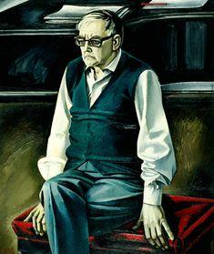 1960's Dmitri Shostakovich (1906~1975) by Soviet artist Tahir Salahov