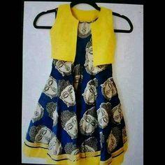Girls Frock Design, Baby Dress Design, Kids Frocks Design, Kids Dress Wear, Kids Gown, Frocks For Girls, Little Girl Dresses, Kids Indian Wear, Kalamkari Dresses