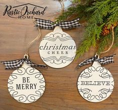 Create beautiful Christmas decor with the Peace, Joy Cabin Christmas Decor, Christmas Farm, Christmas Crafts, Christmas Decorations, Christmas Ornaments, Holiday Decor, Couture Ideas, Crafts To Do, Beautiful Christmas