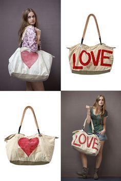 Ali Lamu Vintage Sailcloth Bag